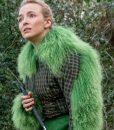 Killing Eve S03 Green Fur Jodie Comer Cropped Jacket