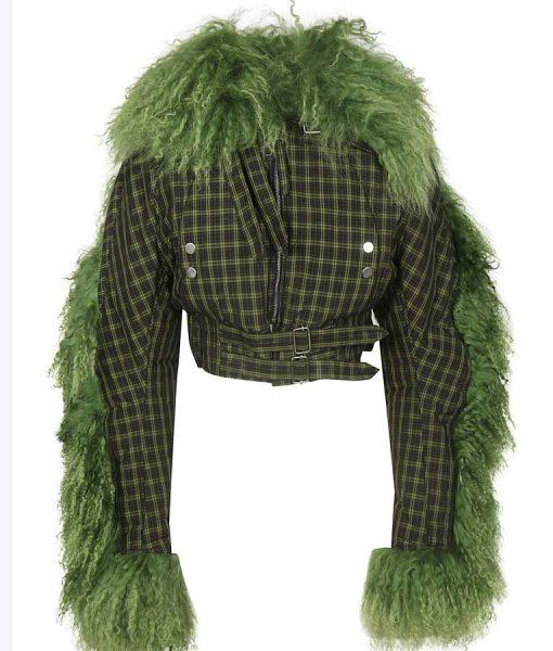 Killing Eve S03 Villanelle Green Fur Cropped Jacket