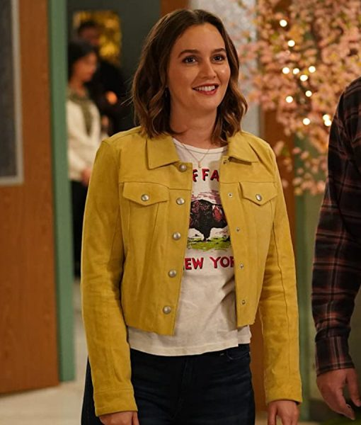 Leighton Meester Single Parents S02 Angie D'Amato Cropped Jacket