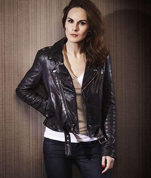 Michelle Dockery Good Behavior Leather Jacket