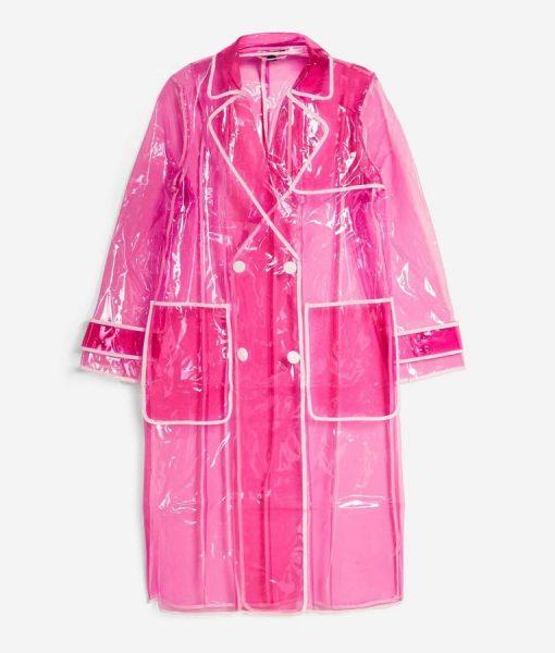 Perry Mattfeld In The Dark Raincoat