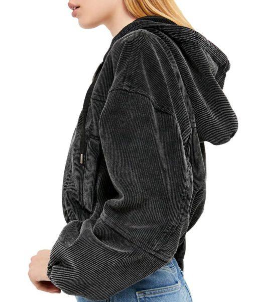 Never Have I Ever Devi Crop Hooded Jacket