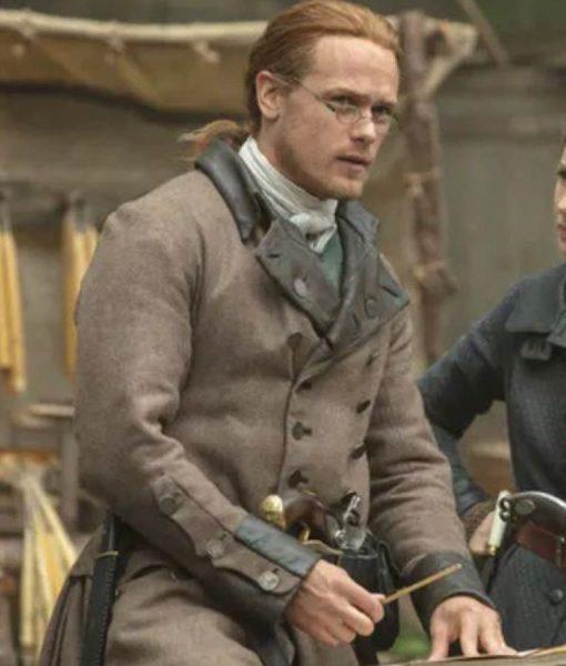 Outlander S05 Ep 04 Sam Heughan Double Breasted Coat