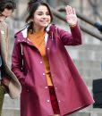 Selena Gomez A Rainy Day in New York Coat