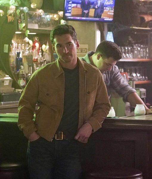 Station 19 Season 03 Travis Montgomery Suede Jacket