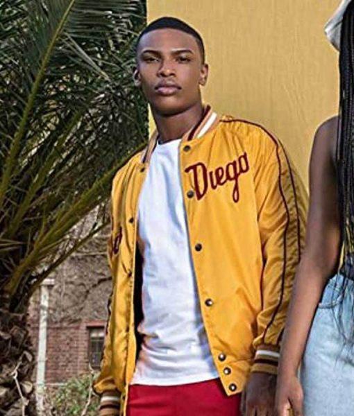 Blood & Water Karabo Molapo Yellow Leather Jacket