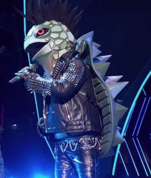 Jesse McCartney The Masked Singer Season 03 Turtle Jacket With Spikes