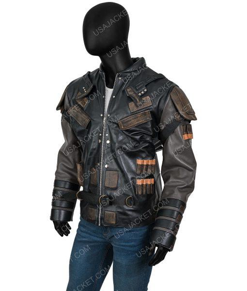Pete Davidson The Suicide Squad 2 Leather Blackguard Jacket