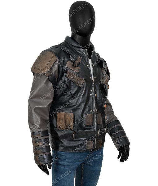 The Suicide Squad 2 Pete Davidson Leather Blackguard Jacket