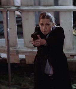 Torn Dark Bullets Detective Omari Trench Coat