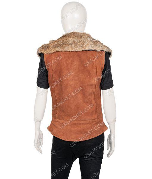 Zombies 2 Ariel Martin Suede Leather Vest