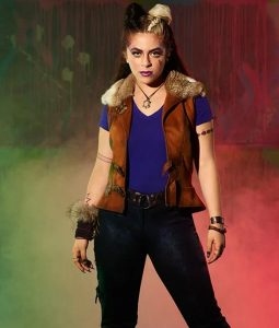 Zombies 2 Ariel Martin Wynter Leather Vest With Fur
