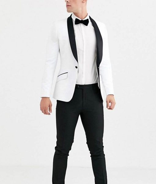 Justin Foley 13 Reasons Why White Tuxedo