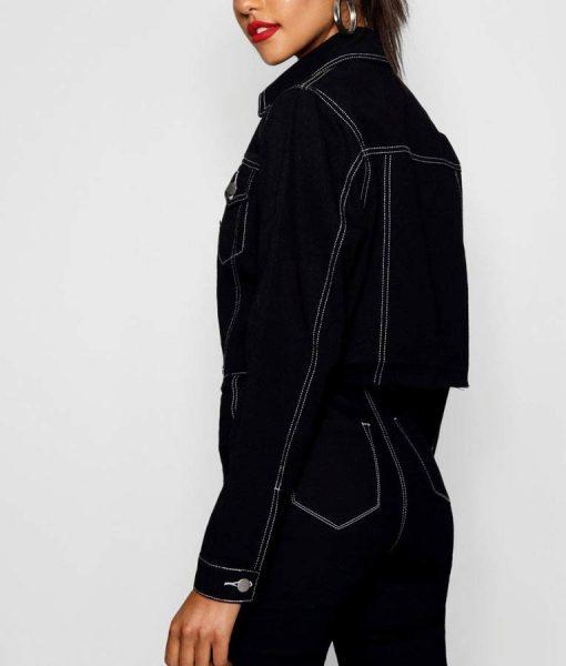 13 Reasons Why S04 Jessica Davis Cropped Denim Jacket