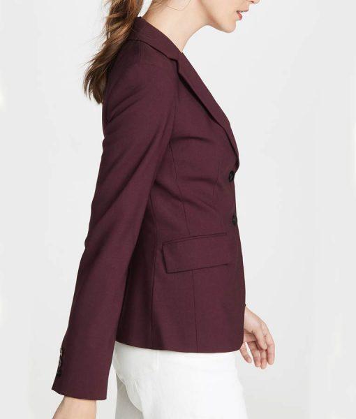 Jessica Davis 13 Reasons Why S04 Burgundy Blazer Jacket