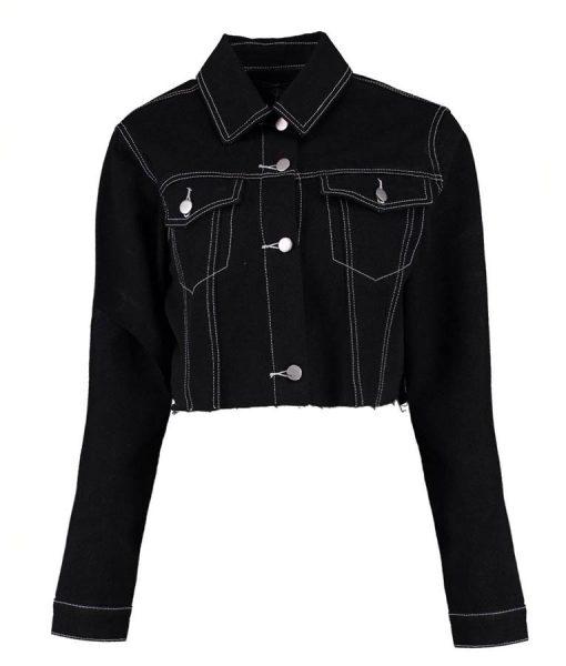 13 Reasons Why S04 Alisha Boe Black Cropped Denim Jacket