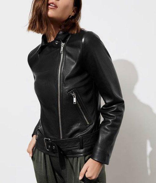 13 Reasons Why S04 Jessica Davis Black Leather Biker Jacket