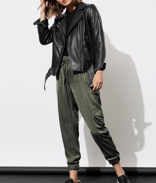 Alisha Boe 13 Reasons Why S04 Jessica Davis Black Leather Jacket