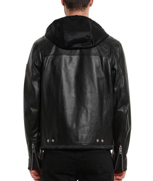 13 Reasons Why S04 Zach Dempsey Striped Leather Biker Jacket