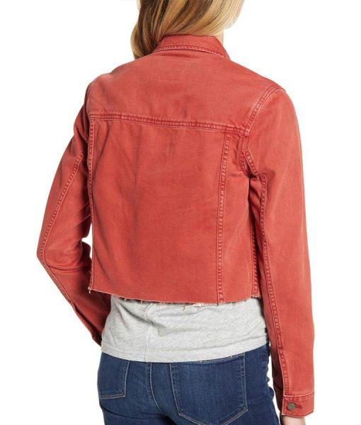 Grace Saif 13 Reasons Why Season 04 Ani Achola Cropped Denim Jacket