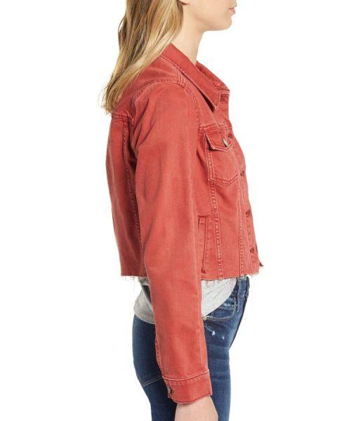 13 Reasons Why Season 04 Ani Achola Cropped Denim Jacket
