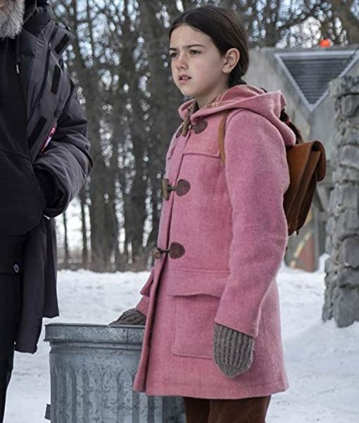Tales From The Loop Pink Hooded Young Girl Coat