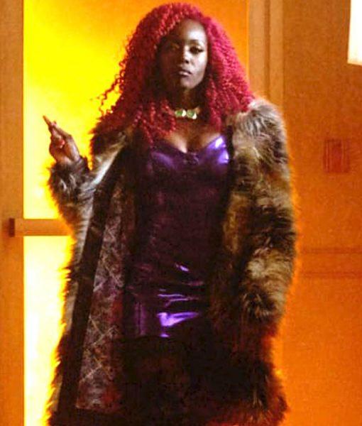 Anna Diop Starfire Titans Coat