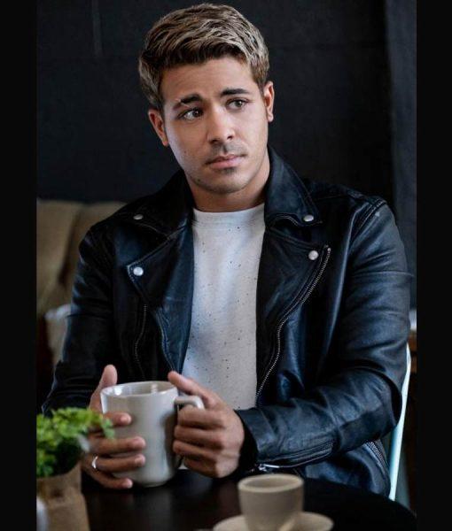 Christian Navarro 13 Reasons Why S04 Tony Padilla Leather moto Jacket
