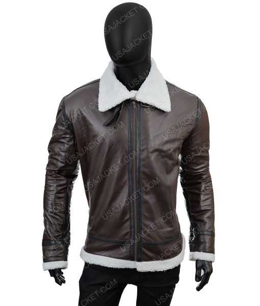 Pu Leather Clearance Sale Men's B3 Shearling Jacket