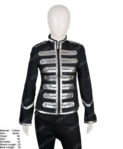 Clearance Sale Small Size Black Parade Female Cotton Jacket
