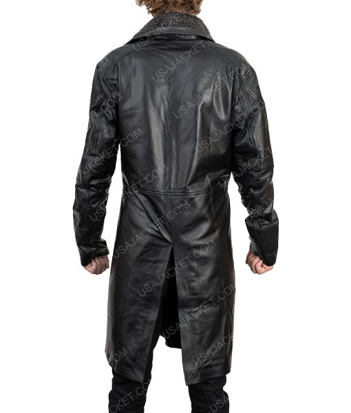 Clearance Sale Men's Black Leather Coat (M) size