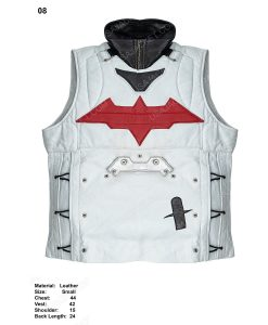 Clearance Sale Men's White Leather Vest Small Size