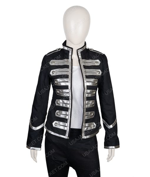 Clearance Sale Black Parade Female Cotton Black Jacket Small Size
