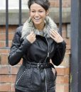 Coronation Street Michelle Keegan Black Leather Jacket