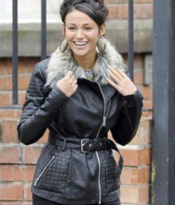 Coronation Street Michelle Keegan Black Leather Jacket