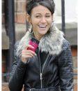 Coronation Street Michelle Keegan Leather Hooded Jacket