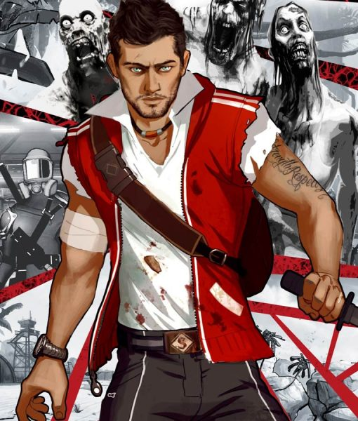 Dead Island 2 Cliff Calo Red Vest With Hood