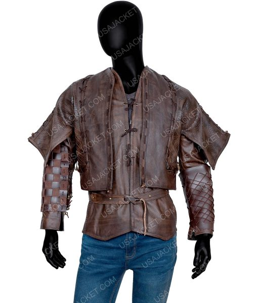 Devon Terrell Cursed Brown Leather Jacket