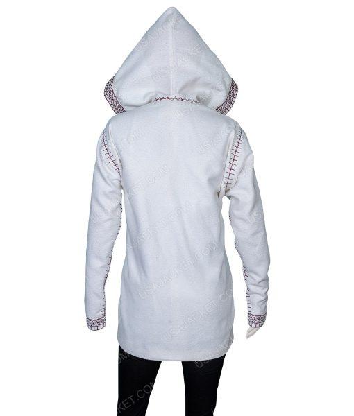 Sigrit Ericksdottir White Hooded Coat