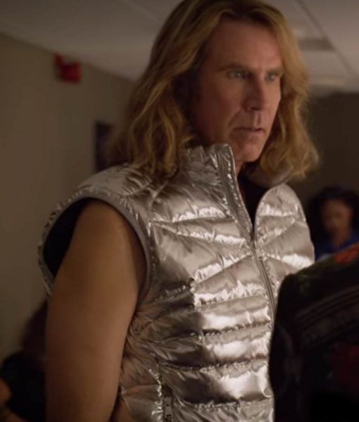 Eurovision Song Contest The Story Of Fire Saga Will Ferrell Silver Puffer Vest