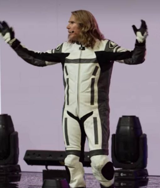 Eurovision Song Contest The Story of Fire Saga Will Ferrell Motorcycle Jacket