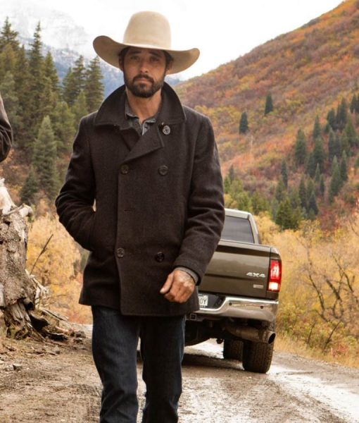 Ian Bohen Black Yellowstone Ryan Peacoat