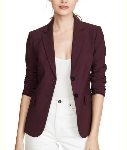 13 Reasons Why S04 Alisha Boe Burgundy Blazer