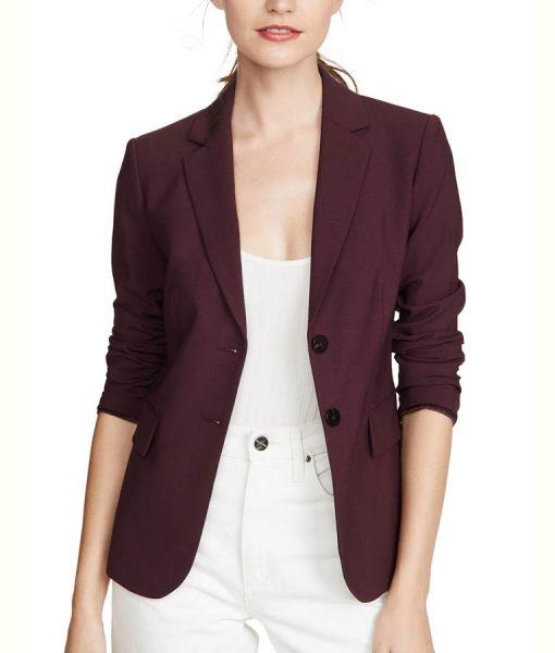 Jessica Davis 13 Reasons Why S04 Burgundy Blazer