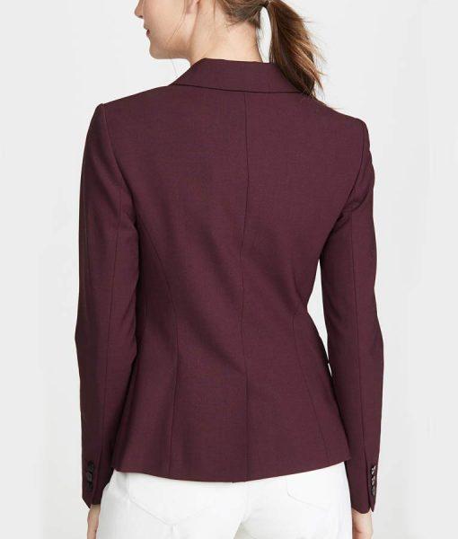 13 Reasons Why S04 Alisha Boe Burgundy Blazer Jacket