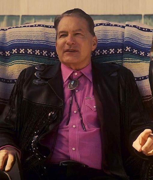 John Bloom Black Leather The Last Drive In Joe Bob Briggs Fringe Jacket