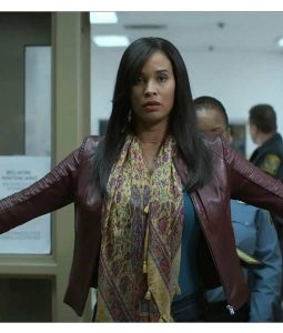 Joy Bryant For Life Marie Wallace Leather Jacket