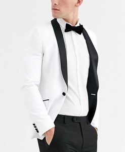 13 Reasons Why Brandon Flynn White With Black Laples Tuxedo