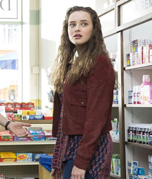 13 Reasons Why Hannah Baker Suede Leather Jacket