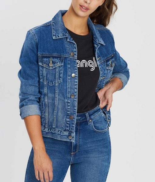 Kelsey Asbille Yellowstone Monica Dutton Denim Jacket